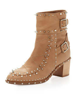 Laurence Dacade Studded Ankle Boot, Beige
