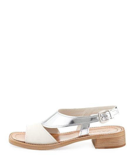 9221742a1c7 Prada Metallic Low-Heel Sandal
