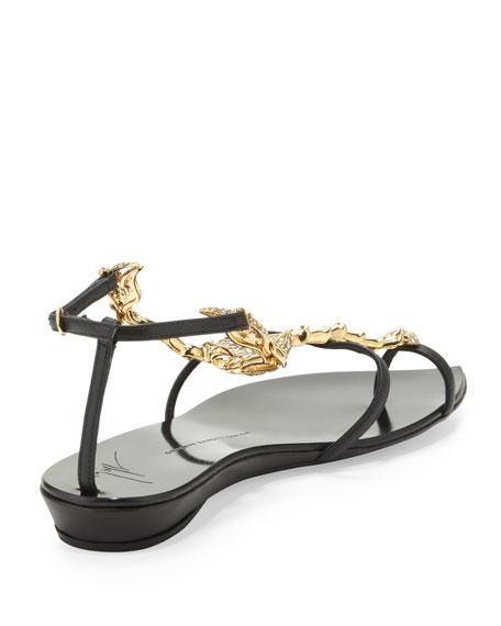 20th Anniversary Scorpion Sandal, Black/Gold