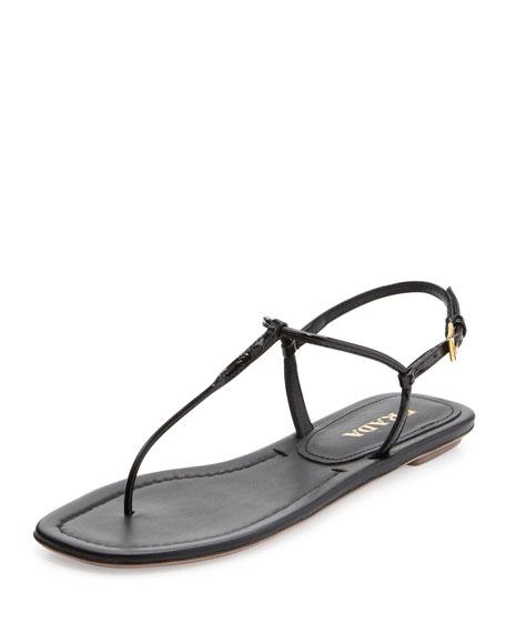 8a3e8d50f75 Prada Flat Thong Sandal