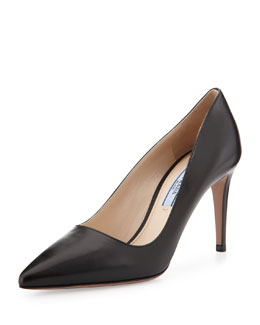 Prada Leather High-Heel Pointy Pump