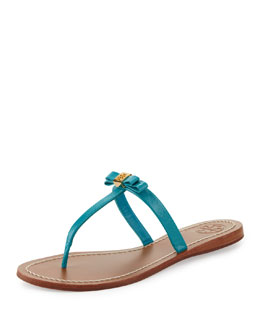 Tory Burch Leighanne Bow Thong Sandal, Aquarius