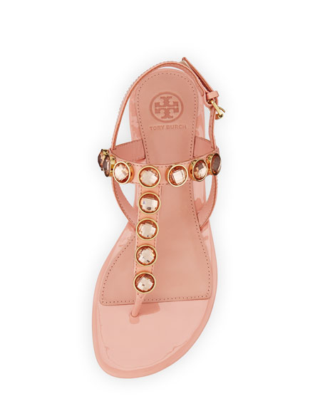 Mariah Crystal Thong Sandal, Sorbet