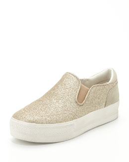Ash Jungle Bis Glitter Slip-On, Champagne