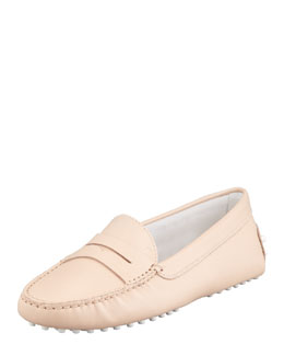 Tod's Leather Penny Keeper Moccasin, Light Pink