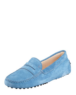 Tod's Penny Keeper Moccasin, Medium Blue