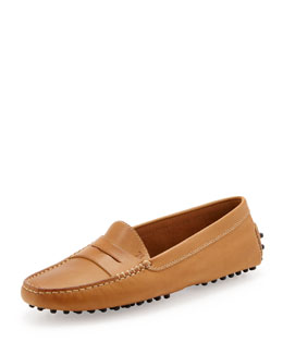 Tod's Leather Gommini Moccasin, Brown
