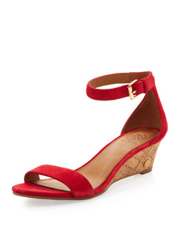 Tory Burch Savannah Low Wedge, Carnival Pink