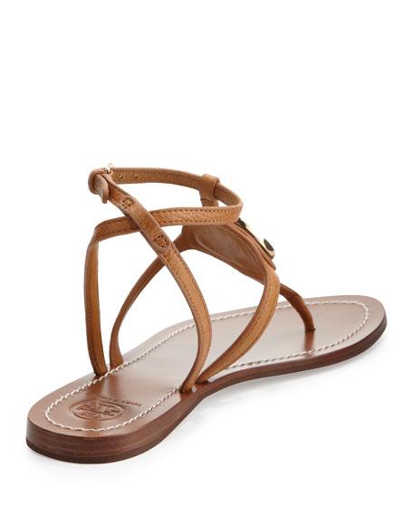 Leticia Logo Thong Sandal, Tan