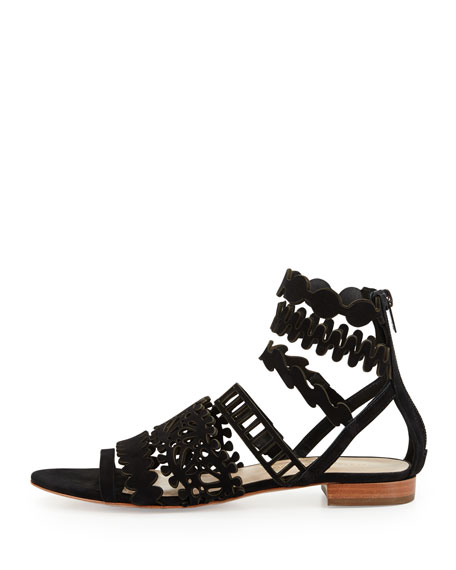 Loeffler Randall Suede Cutout Sandals clearance lowest price discounts clearance how much outlet reliable CwLLCC4