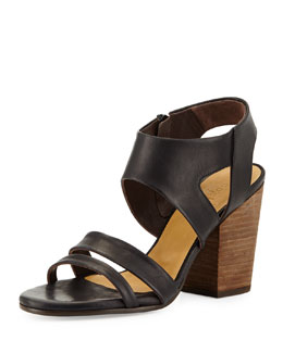 Coclico Cersei Chunky Leather Sandal, Black