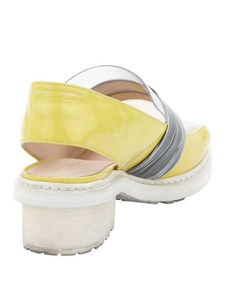 Darwin Runway Peep-Toe Loafer, Lemon