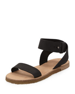 Vince Harper Leather Sandal, Black