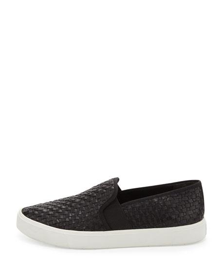 Preston Leather Slip-On Sneaker, Black