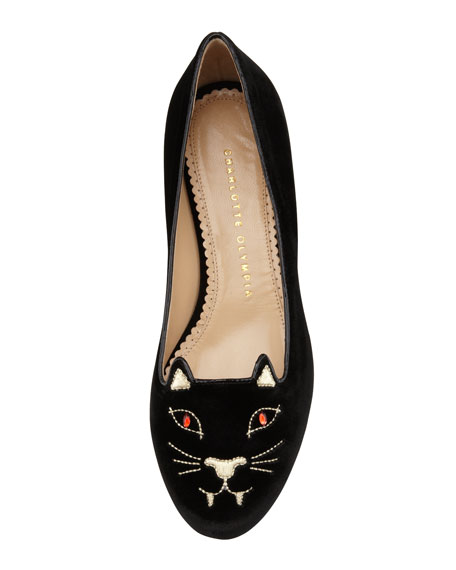 Bite Me Vampire Kitty Flat, Black
