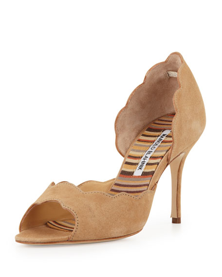 Manolo Blahnik Scalloped d'Orsay Pumps great deals for sale cheap sale low shipping fee clearance find great H44mu