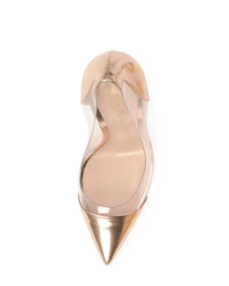Metallic Cap-Toe PVC Pump, Cookie