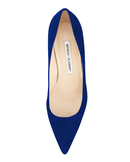 BB Suede 50mm Pump, Cobalt