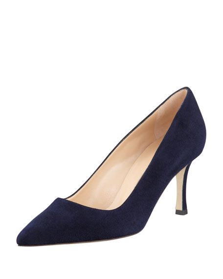 BB 70 navy suede pump Manolo Blahnik