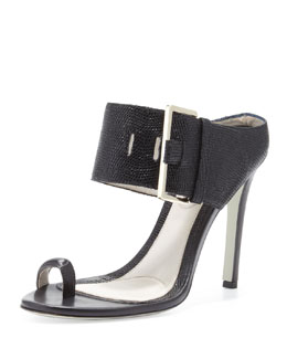 Jason Wu Buckled High-Heel Slide Sandal