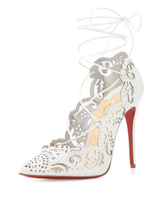 a897405a004 Christian Louboutin Impera Lace-Up Red Sole Pump