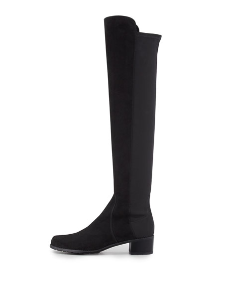 Reserve Narrow Suede Stretch Over-the-Knee Boot, Black