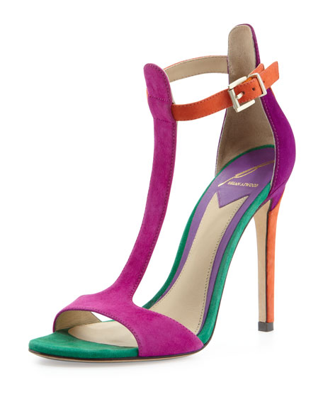 fd84a89a201 B Brian Atwood Leigha Suede T-Strap Sandal