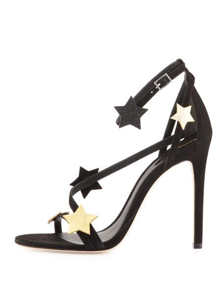 Licata Suede Star Sandal, Black Multi