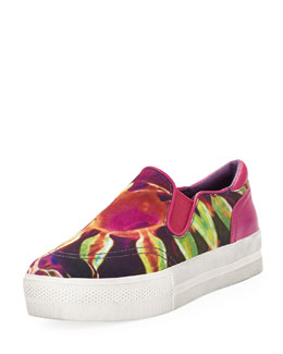 Ash Jungle Blis Medusa Slip-On, Bordeaux/Yellow