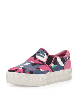 Ash Jungle Blis Printed Slip-On, Pink/Blue