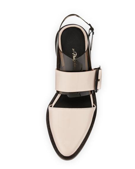 Cristobal Slingback Sandal, Powder/Black