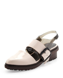3.1 Phillip Lim Cristobal Slingback Sandal, Powder/Black