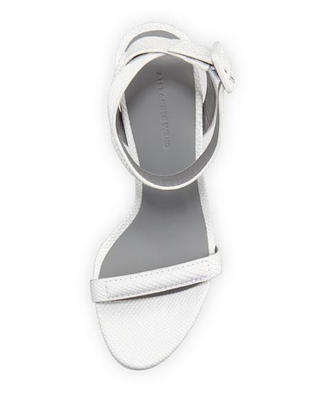 Antonia Snake-Embossed Sandal, Peroxide