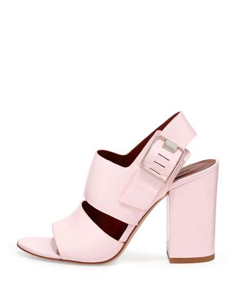 Sara Patent Chunky Slingback Sandal