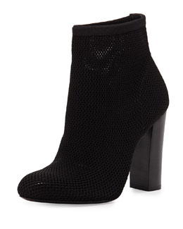 Alexander Wang Daga Stretch Mesh Ankle Bootie, Black