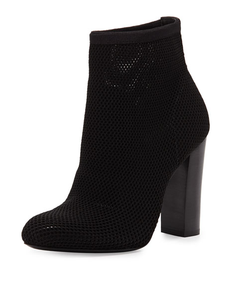 Daga Stretch Mesh Ankle Bootie, Black