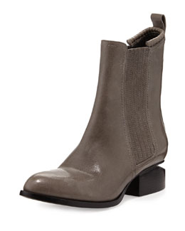 Alexander Wang Anouck Lift-Heel Chelsea Boot, Gunpowder