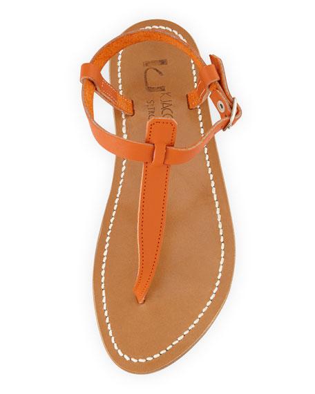 Picon Leather Thong Sandal, Soft Orange