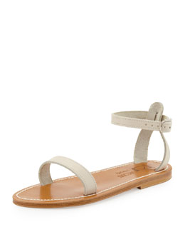 K. Jacques Laura Leather Sandal, Off White