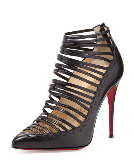 gortik-strappy-red-sole-bootie,-black by christian-louboutin