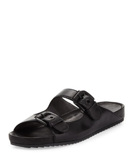 Stuart Weitzman Freely Napa Leather Sandal, Black