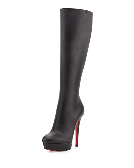 Bianca Botta Red Sole Knee Boot, Black