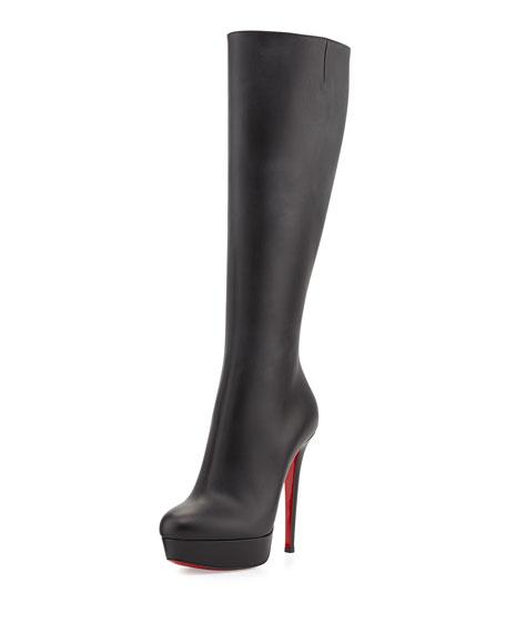 a43688910e4 Bianca Botta Red Sole Knee Boot Black