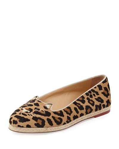 Capri Cats Leopard-Print Espadrille Flat