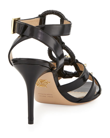 Allure Studded Harness Sandal, Black