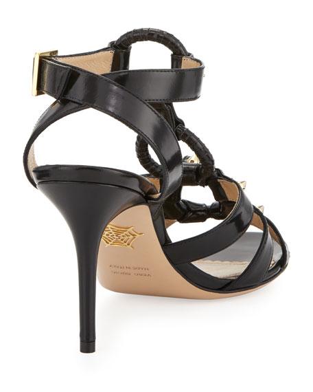 Allure Studded Harness Sandal, Black