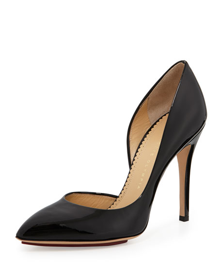 The Lady is a Vamp Patent Pump, Black