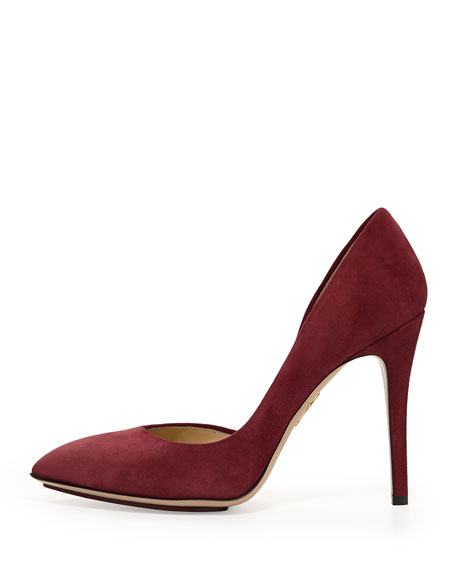 The Lady is a Vamp Suede Pump, Bordeaux