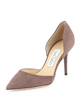 Jimmy Choo Addison Suede d'Orsay Pump, Gray