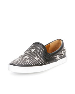 Jimmy Choo Demi Star-Studded Skater Slip-On